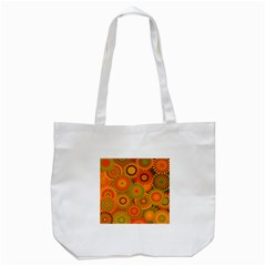 Funky Flowers D Tote Bag (White)
