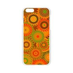 Funky Flowers D Apple Seamless iPhone 6/6S Case (Transparent)