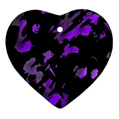 Painter was here - purple Ornament (Heart)