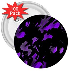 Painter was here - purple 3  Buttons (100 pack)