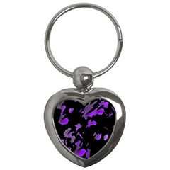 Painter was here - purple Key Chains (Heart)