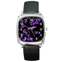 Painter was here - purple Square Metal Watch