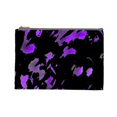 Painter was here - purple Cosmetic Bag (Large)