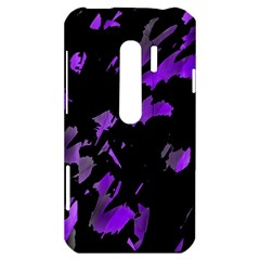 Painter was here - purple HTC Evo 3D Hardshell Case