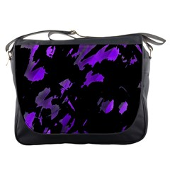 Painter was here - purple Messenger Bags