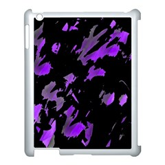 Painter was here - purple Apple iPad 3/4 Case (White)