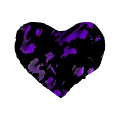 Painter was here - purple Standard 16  Premium Heart Shape Cushions