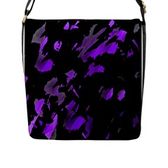 Painter was here - purple Flap Messenger Bag (L)