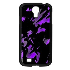Painter was here - purple Samsung Galaxy S4 I9500/ I9505 Case (Black)