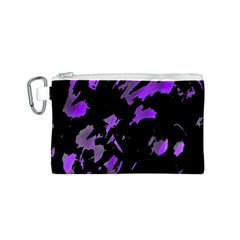 Painter was here - purple Canvas Cosmetic Bag (S)