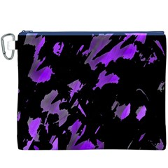 Painter was here - purple Canvas Cosmetic Bag (XXXL)