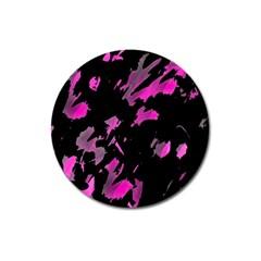 Painter was here - magenta Magnet 3  (Round)
