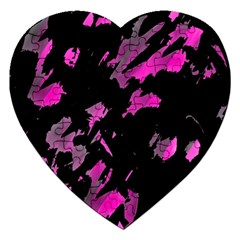 Painter was here - magenta Jigsaw Puzzle (Heart)