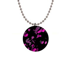 Painter was here - magenta Button Necklaces