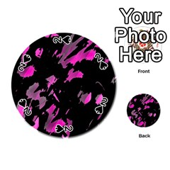 Painter was here - magenta Playing Cards 54 (Round)