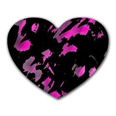 Painter was here - magenta Heart Mousepads