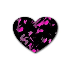 Painter was here - magenta Rubber Coaster (Heart)