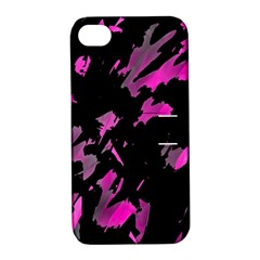 Painter was here - magenta Apple iPhone 4/4S Hardshell Case with Stand