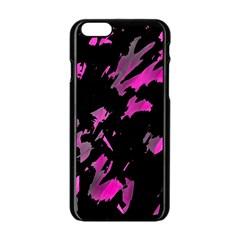 Painter was here - magenta Apple iPhone 6/6S Black Enamel Case