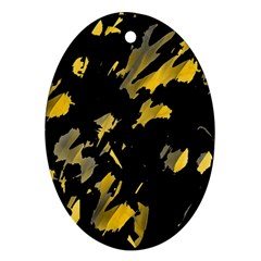 Painter was here - yellow Ornament (Oval)