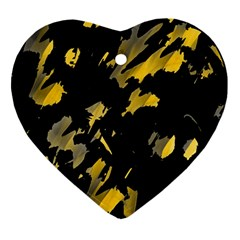 Painter was here - yellow Ornament (Heart)