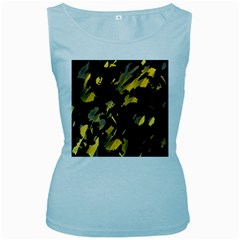 Painter was here - yellow Women s Baby Blue Tank Top