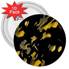 Painter was here - yellow 3  Buttons (10 pack)