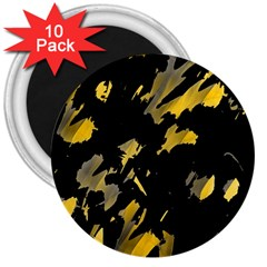Painter was here - yellow 3  Magnets (10 pack)