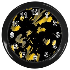 Painter was here - yellow Wall Clocks (Black)