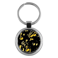 Painter was here - yellow Key Chains (Round)