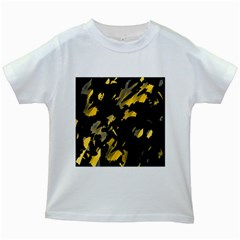 Painter was here - yellow Kids White T-Shirts