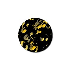 Painter was here - yellow Golf Ball Marker
