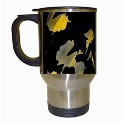 Painter was here - yellow Travel Mugs (White)