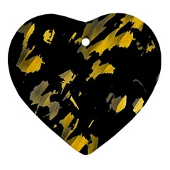 Painter was here - yellow Heart Ornament (2 Sides)