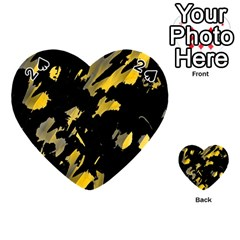 Painter was here - yellow Playing Cards 54 (Heart)