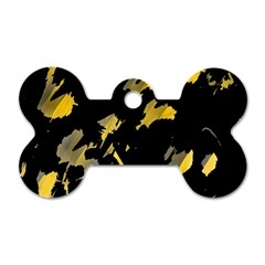 Painter was here - yellow Dog Tag Bone (Two Sides)