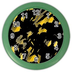 Painter was here - yellow Color Wall Clocks