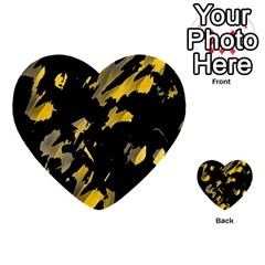 Painter was here - yellow Multi-purpose Cards (Heart)