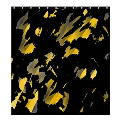 Painter was here - yellow Shower Curtain 66  x 72  (Large)