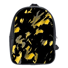 Painter was here - yellow School Bags(Large)