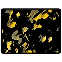 Painter was here - yellow Fleece Blanket (Large)