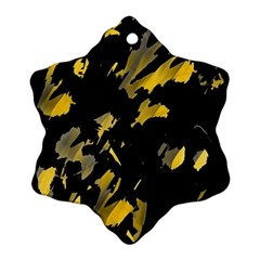 Painter was here - yellow Snowflake Ornament (2-Side)