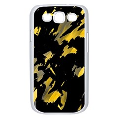 Painter was here - yellow Samsung Galaxy S III Case (White)
