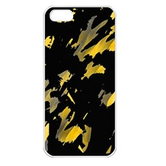 Painter was here - yellow Apple iPhone 5 Seamless Case (White)