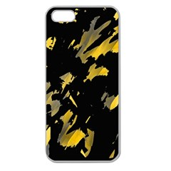 Painter was here - yellow Apple Seamless iPhone 5 Case (Clear)