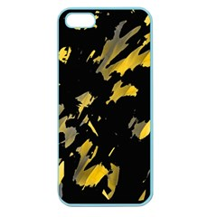 Painter was here - yellow Apple Seamless iPhone 5 Case (Color)