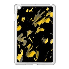 Painter was here - yellow Apple iPad Mini Case (White)