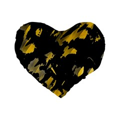 Painter was here - yellow Standard 16  Premium Heart Shape Cushions