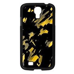 Painter was here - yellow Samsung Galaxy S4 I9500/ I9505 Case (Black)