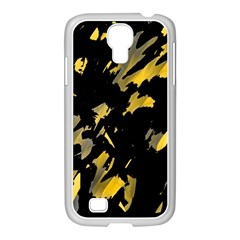 Painter was here - yellow Samsung GALAXY S4 I9500/ I9505 Case (White)